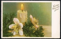 B8424 - TOP Glückwunschkarte - Weihnachten - Tannenzweig Kerze - Non Classificati