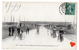 00075-LE-59-LILLE-Pont Du Chemin De Fer Sur Le Nouveau Boulevard---------------animée - Lille