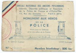 Amicale Nationale Des Anciens Prisoniers - Documents