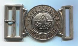 SCOUTING, SCOUTISME, BOY SCOUT - Ex Yugoslavia, Vintage Metal Buckle, Dim: 75 X 40 Mm - Scouting