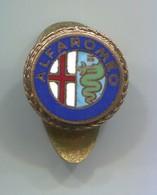 ALFA ROMEO - Auto Car Automotive, Vintage Pin, Badge, Abzeichen, Enamel, Button Hole - Alfa Romeo