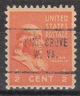 USA Precancel Vorausentwertung Preo, Locals West Virginia, Pine Grove 704 - Vereinigte Staaten