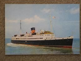 ISLE OF MAN STEAM PACKET CO MANXMAN - DIXON CARD - Ferries