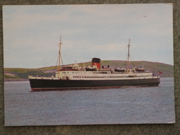 ISLE OF MAN STEAM PACKET CO MANXMAN AT SEA - DIXON CARD - Ferries