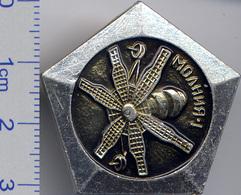 21-5 Space Soviet Russia Pin. Satellite Molniya 1965 - Space