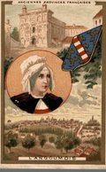 CHROMO CHICOREE A LA BERGERE EMILE BONZEL HAUBOURDIN  ANCIENNES PROVINCES FRANCAISES L'ANGOUMOIS - Trade Cards