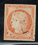 A4D- N°5 Sans Défaut Certificat Photographique. Tous Les Filets Sont Présents - 1849-1850 Ceres