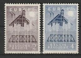 MiNr. 1070 - 1071  Belgien / 1957, 16. Sept. Europa. StTdr. (56); Gez. K 11. - Belgien
