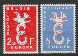 MiNr. 1117 - 1118  Belgien / 1958, 13. Sept. Europa. RaTdr. (56); Gestrichenes Papier; Gez. K 11. - Belgien