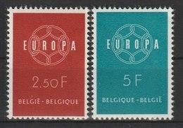 MiNr. 1164 - 1165  Belgien / 1958, 13. Sept. Europa. RaTdr. (56); Gestrichenes Papier; Gez. K 11. - Belgien
