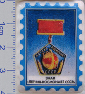 469 Space Russian Сeramic Pin. Sign Cosmonaut Of USSR - Space