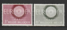 MiNr. 1209 - 1210  Belgien / 1960, 17. Sept. Europa, RaTdr. (65); Gestrichenes Papier; Gez. K 11. - Belgien