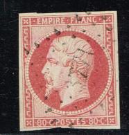 A6D-N°17A Carmin Clair  Oblit PC 3771 De Metelin Cote Cèrès 350 Euros En 2008 - 1853-1860 Napoléon III
