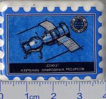 559 Space Russian Сeramic Pin. Spaceship Soyuz Natural Resources Study - Space