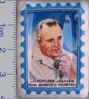 570 Space Russian Сeramic Pin. Korolev - Chief Designer Of Rockets & Spaceships - Space
