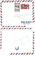 PHNOM PENH Cambodge Lettre CENSUREE Verso Marque BLEUE Verso République KHMERE Ob 24 4 1974 - Cambodge