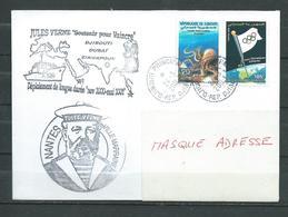 B.A.P JULES VERNE - Mission En Océan Indien - Escale à DJIBOUTI- TàD DJIBOUTI Ppal 24/03/01 Sur Timbres Locaux - Marcophilie (Lettres)