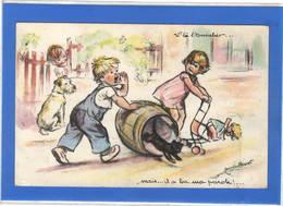 """ILLUSTRATEURS Signés - Germaine BOURET """"""""v'là L'tonnelier...."""" - Bouret, Germaine"""