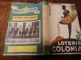 Vieux Couvre-livre Publicitaire Loterie Coloniale - Congo Belge.......... - Protège-cahiers
