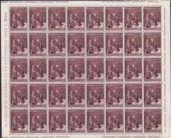 1967 Italia Italy Repubblica GIURAMENTO DI PONTIDA 40 Serie In Foglio MNH** Sheet - Fogli Completi