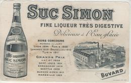 BUVARD - Liqueur SUC SIMON - Chalons Sur Saone - Buvards, Protège-cahiers Illustrés