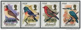 Aitutaki 1986. Michel #34/37 MNH/Luxe. Birds. Ovptd. O.H.M.S (B33) - Unclassified