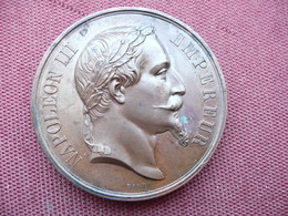 FRANCE Médaille Ministère De L'agriculture CHALONS 1868 - Royal / Of Nobility