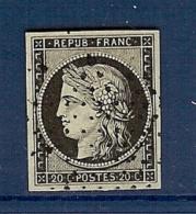 N° 3a NOIR/BLANC OBLITERE ETOILE SUP - 1849-1850 Ceres