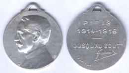 Médaille De Galliéni - Jusqu'au Bout 1914 / 1916 - Francia