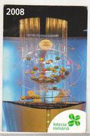 Romania Small Calendar -  2008 - National Lottery - Calendarios