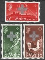 Malta. 1957 George Cross Commemoration. MH Complete Set. SG 283-285 - Malta
