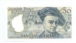 BILLET 50 FRANCS BANQUE DE FRANCE QUENTIN DE LA TOUR TBE VOIR SCANS - 50 F 1976-1992 ''Quentin De La Tour''
