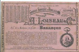 BUVARD - A. LOISEAU & Cie - HORLOGERIE - BESANCON - Autres