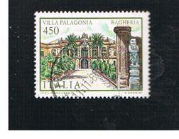 ITALIA REPUBBLICA  - SASS. 1783      1986   VILLE D' ITALIA: PALAGONIA  -      USATO - 1946-.. République