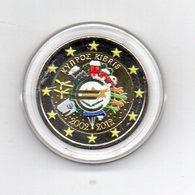 Cipro - 2012 - Moneta Da 2 Euro - Decennale Euro - Colorato - In Capsula - (MW1636) - Cipro