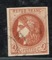 A9D-N°40 Rouge Brique Certifiée Calves  Sans Défaut  ( Scan De Comparaison) - 1870 Bordeaux Printing