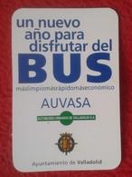 ANTIGUO OLD CALENDARIO CALENDAR DE BOLSILLO MANO PUBLICIDAD ADVERTISING BUS AUTOBUS TRANSPORTES URBANOS VALLADOLID SPAIN - Calendarios