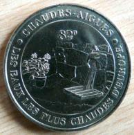 CHAUDES AIGUES 2002 MONNAIE DE PARIS COLLECTION NATIONALE MEDAILLE OFFICIELLE JETON TOURISTIQUE - 2002