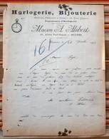 34 BEZIERS 1902 Maison A. Alibert HORLOGERIE BIJOUTERIE Montres Pendules Reveil En Tous Genres - France