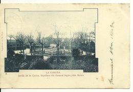 LA CORUNA / JARDIN DE SAN CARLOS - SEPULTURA DEL GENERAL INGLES JOHN MOORE (avec STAMP 1902) - La Coruña