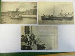 3 CPA OLERON LE CHATEAU VAPEURS ANIMEES ECRITES 1915 BRAUN ET BAZAR - Ile D'Oléron