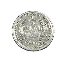 1/4 Réal - Guatemala - 1878 -   Argent -   0,900 - Sup  - - Guatemala
