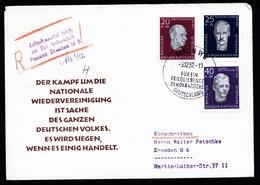 A5672) DDR R-Brief Berlin 3.12.57 Mit Sehr Seltenem Stempel V. Dresden N6 - DDR