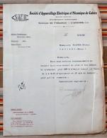 46 CAHORS 1922 Societe D'Appareillage Electrique Et Mecanique 55 REVIGNY - France