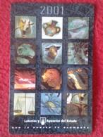 ANTIGUO OLD CALENDARIO CALENDAR DE BOLSILLO MANO PUBLICIDAD ADVERTISING LOTERÍA LOTTERY SPAIN ESPAÑA LOTERÍAS Y APUESTAS - Calendarios