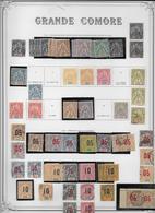 Grande Comore - Collection  Vendue Page Par Page - Timbres Neufs */oblitérés - Tous états - Grote Komoren (1897-1912)
