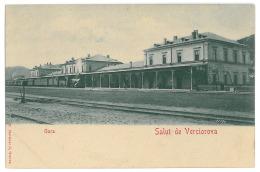 RO 31 - 10952 VERCIOROVA, Caras, Romania, Railway Station, Litho - Old Postcard - Unused - Rumänien