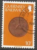 Guernsey. 1979 Coins. 10p Orange Used. SG 187 - Guernsey