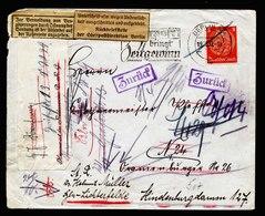 A5673) DR Ortsbrief Berlin 19.10.37 Nachgesandt U. Amtlich Geöffnet Retourverschluss - Briefe U. Dokumente