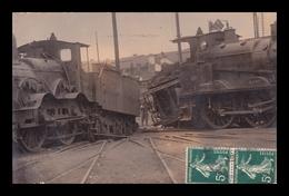 TERGNIER (02) - Carte-Photo - Grève Des Chemins De Fer Et Accidents De 2 Locomotives Octobre 1910 - France